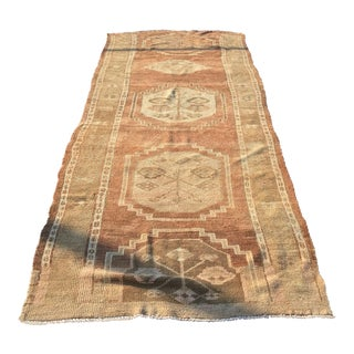 "Antique Turkish Oushak Runner - 4'2"" X 11'"