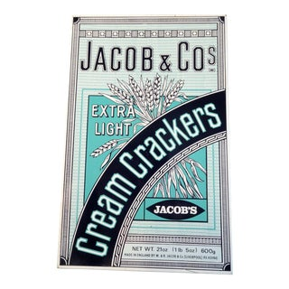 Vintage 'Jacob & Co' Tin Cracker Box