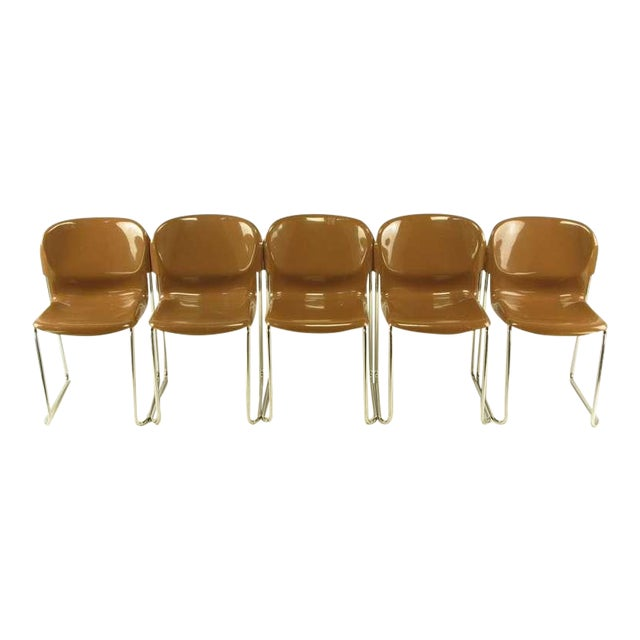 Four Gerd Lange West German Chrome SM 400 Swing Chairs - Image 1 of 9
