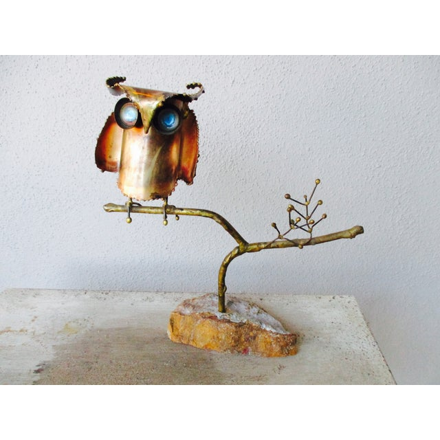 """""""Owl on Branch,"""" Early Sculpture by Curtis Jere - Image 3 of 11"""
