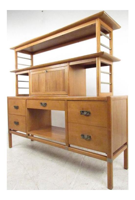 midcentury modern wall unit bookcase