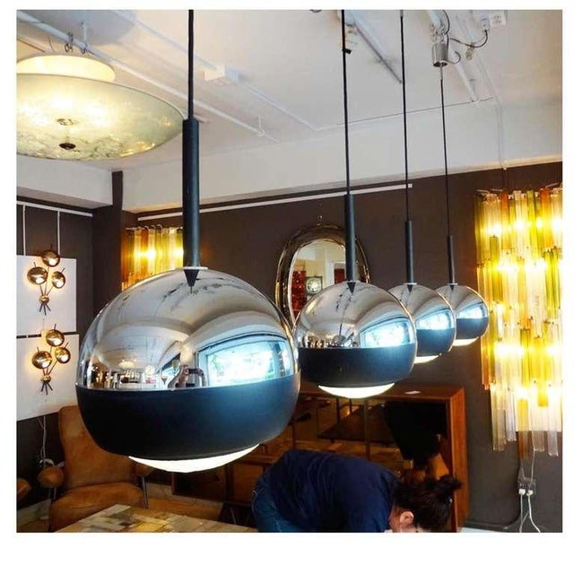 Set of Four Hanging Lamps by Stilnovo, Italy circa 1965 - Image 2 of 5