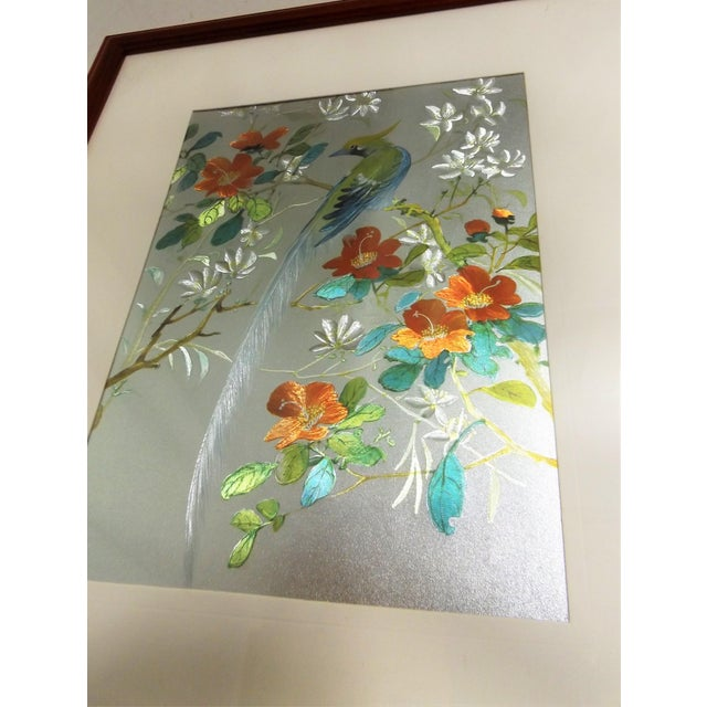 Iridescent Art Print with Asian Phoenix & Floral Design - Image 6 of 8