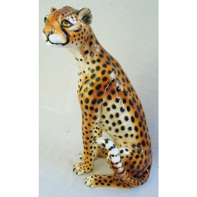 Large Hollywood Glam Mid-Century Italian Cheetah - Image 11 of 11