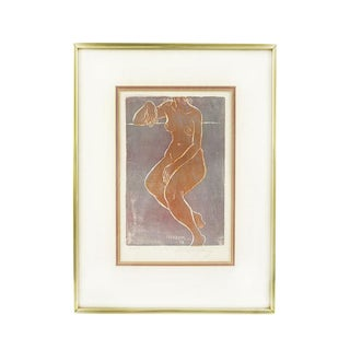 Ruth Sterling Nude Female Woodblock Print