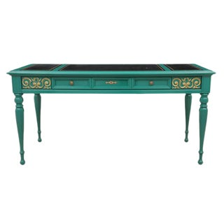 Neoclassical Style Emerald Writing Desk