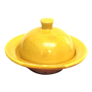 Hand Painted Yellow Small Moroccan Ceramic Serving Dish
