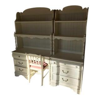 Lexington Industries Bookcase, Matching Desk & Chair - Set of 4