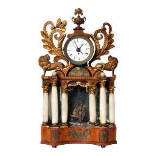 Austrian Alabaster Mantel Clock