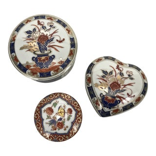 Imari Style Trinket Boxes - Set of 3