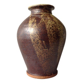 Earth-Toned Studio Pottery Vase