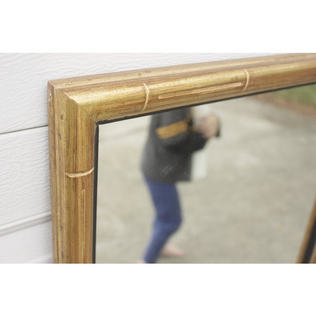 Image of Faux Bamboo Gold Mirror