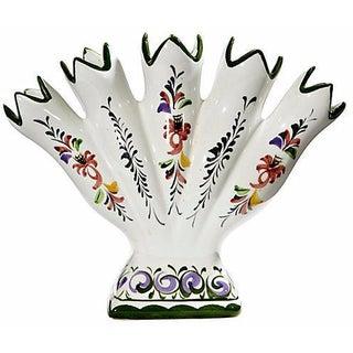 Hand-Painted Ceramic Flower Holder