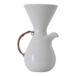 White Porcelain Coffee Carafe