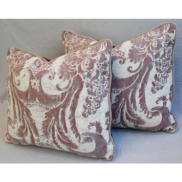 Mariano Fortuny Glicine & Mohair Pillows - A Pair - Image 7 of 10
