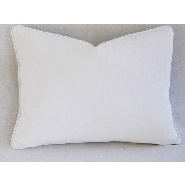 Designer Italian Fortuny Glicine & Velvet Pillow - Image 5 of 6