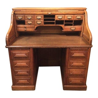 19th Century Roll Top Desk