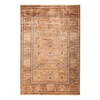 """Eclectic, Hand Knotted Area Rug - 6' 1"""" X 9' 1"""""""
