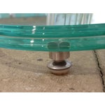 Image of Fontana Arte Style Glass Tables - A Pair