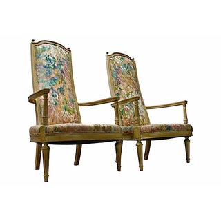 High-Back Armchairs - A Pair