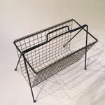 Image of Mid-Century Metal Magazine Rack