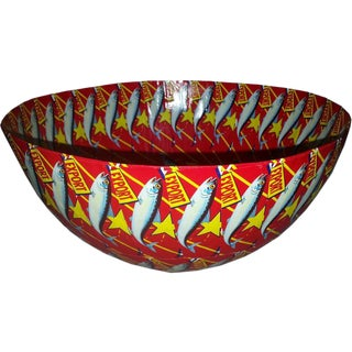 Round Bowl Red Lucky Star