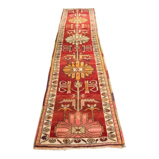 "Exquisite Vintage Kurdish Oushak Runner - 2'9""x12'"