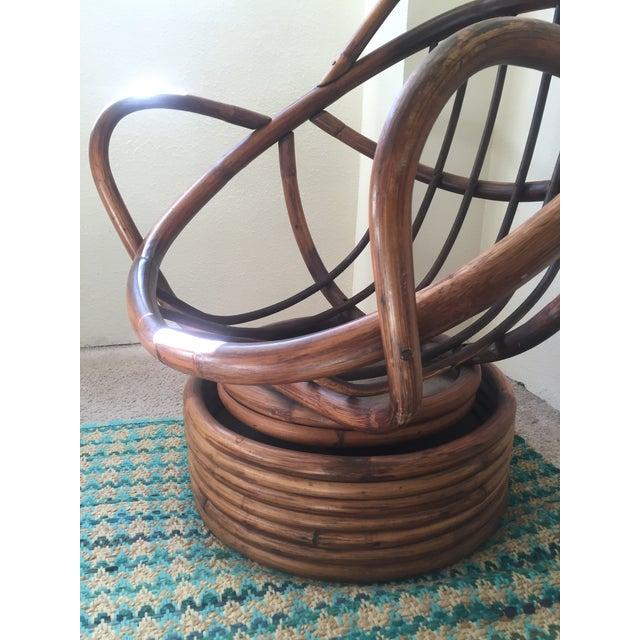 Image of Vintage Rattan Swivel Egg Chair