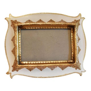 Turkish Gold and White Picture Frame
