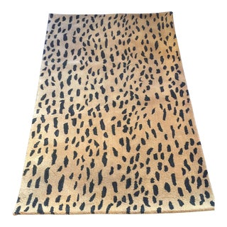 "Cheetah Wool Rug - 3'6"" X 5'5"""