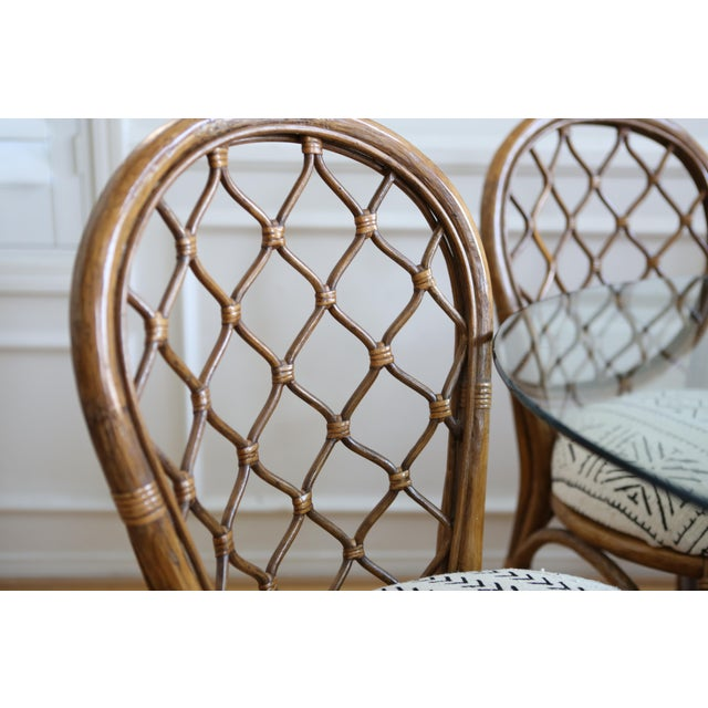 Bamboo Dining Table with Mudcloth Chairs - Set of 5 - Image 11 of 11