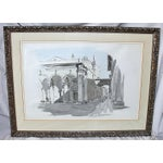 Image of Framed Pen & Ink Watercolors - a Pair