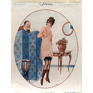 """Grellet 1920 Le Sourire """" L' Indiscret"""" Print"""