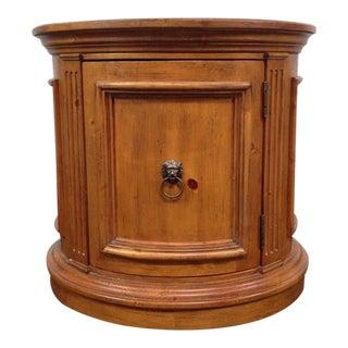Ethan Allen Round Cabinet Landing Table