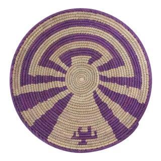 Purple Swirl Pattern Basket