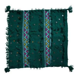Moroccan Green Wool Berber Pillow