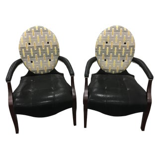 Leathercraft Accent Chairs - A Pair