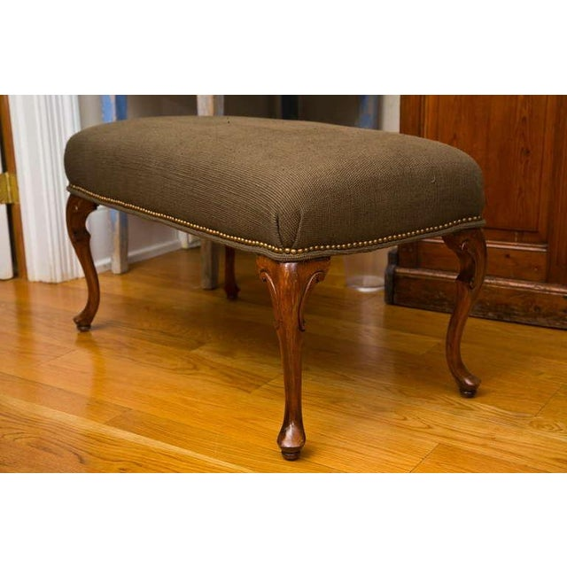 Antique French-Style Walnut Bench - Image 3 of 7