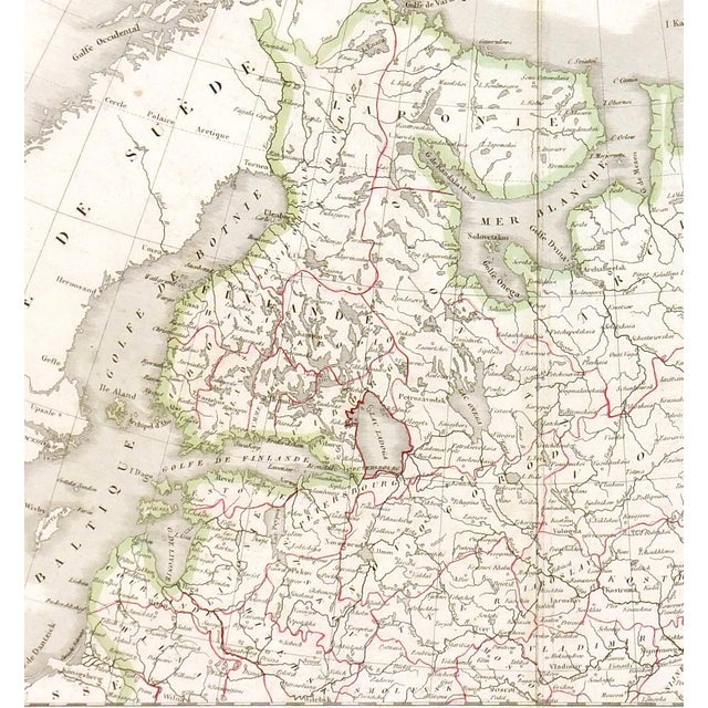 Image of Antique European Russia Map, 1836