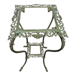 Bronze Plant Stand or Pedestal Table