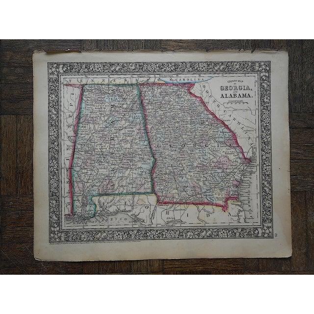 Image of Antique 1862 Georgia & Alabama Folio Size Map