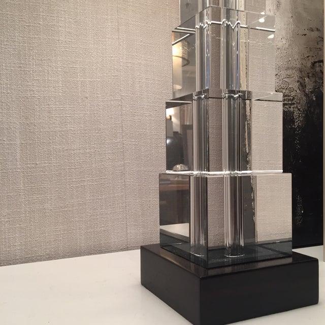 Skyscraper Crystal Lamps - Pair - Image 3 of 7