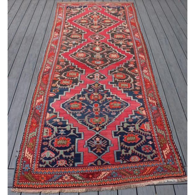 "Semi-Antique Caucasian Kazak Runner - 4'4"" x 10'1"" - Image 9 of 9"