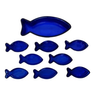 Cobalt Glass Bowls - Set of 9