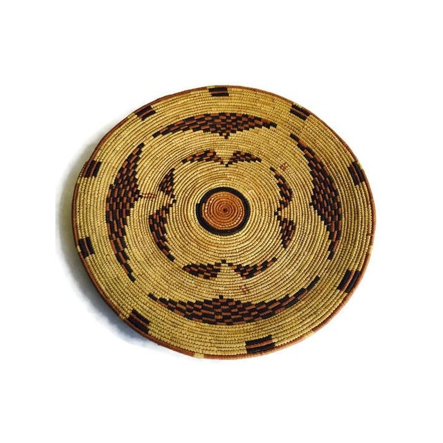 Image of Vintage Moroccan Berber Woven Bowl Tray