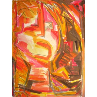 """""""Janis Joplin"""" Large Expressionist Abstract Painting by Trixie Pitts"""