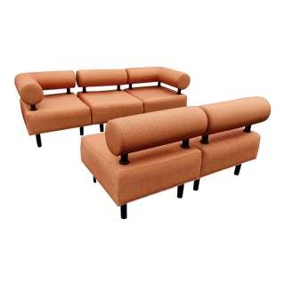 Jack Cartwright 'Tubular Tangerine' 5 Piece Sectional Set
