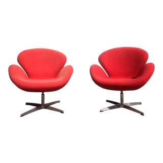 Mid-Century Modern Swan Chairs - A Pair