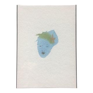 Flower Hair Portrait Painting