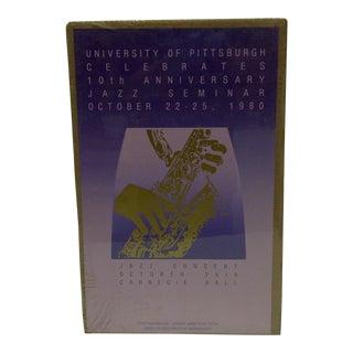 Vintage Jazz Concert Poster - Carnegie Hall, University of Pittsburgh, 1980